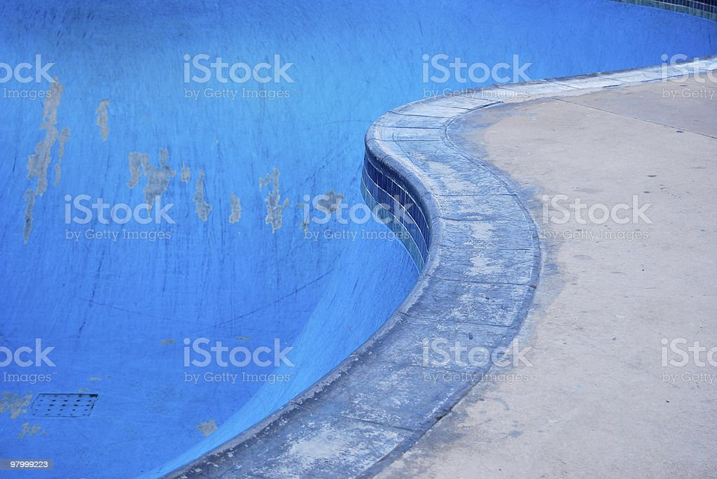 SkateBoarding Pool Park royalty-free stock photo