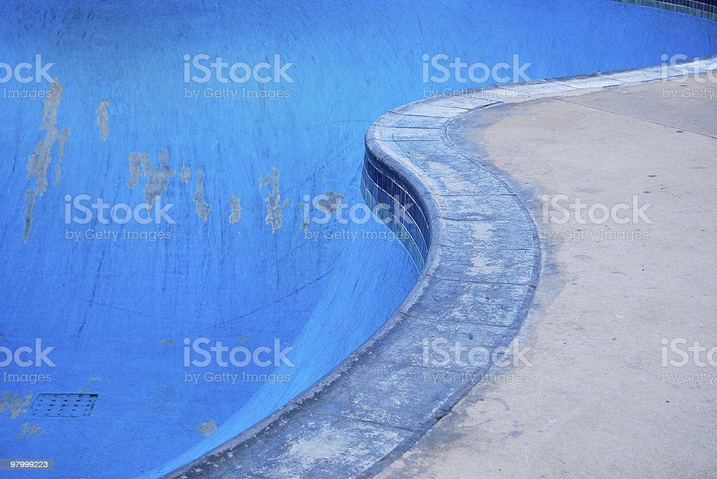 SkateBoarding Pool Park royalty free stockfoto