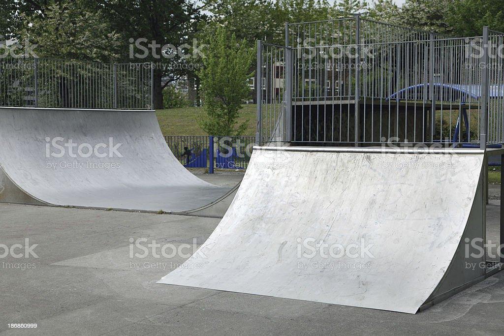 skateboarding ramps royalty-free stock photo