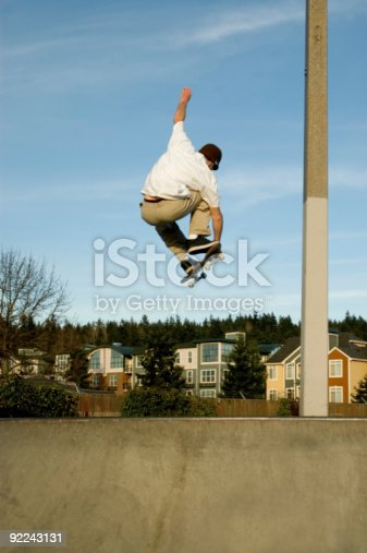 istock Skateboarding - Steezy Grab over the Hip 92243131