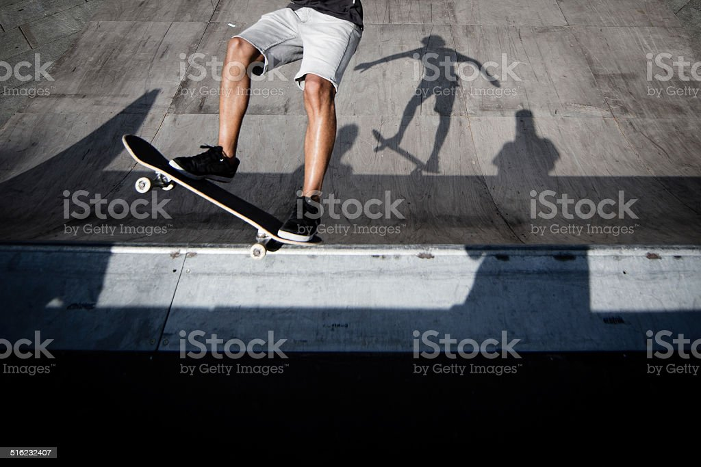 Skatebord Shadow stock photo