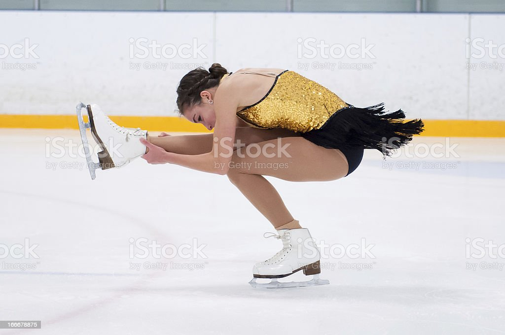 Skater artist performing a spin stock photo