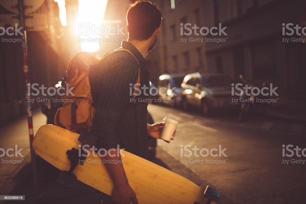 Skater-Jungen Lizenzfreies stock-foto