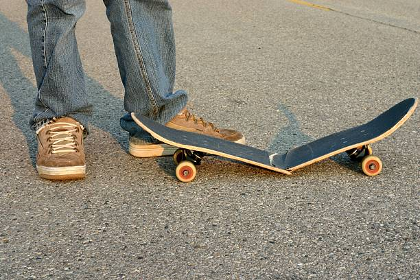Skater Broken Board stock photo