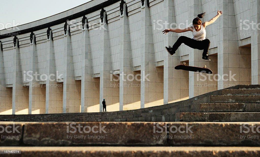 skater girl royalty-free stock photo