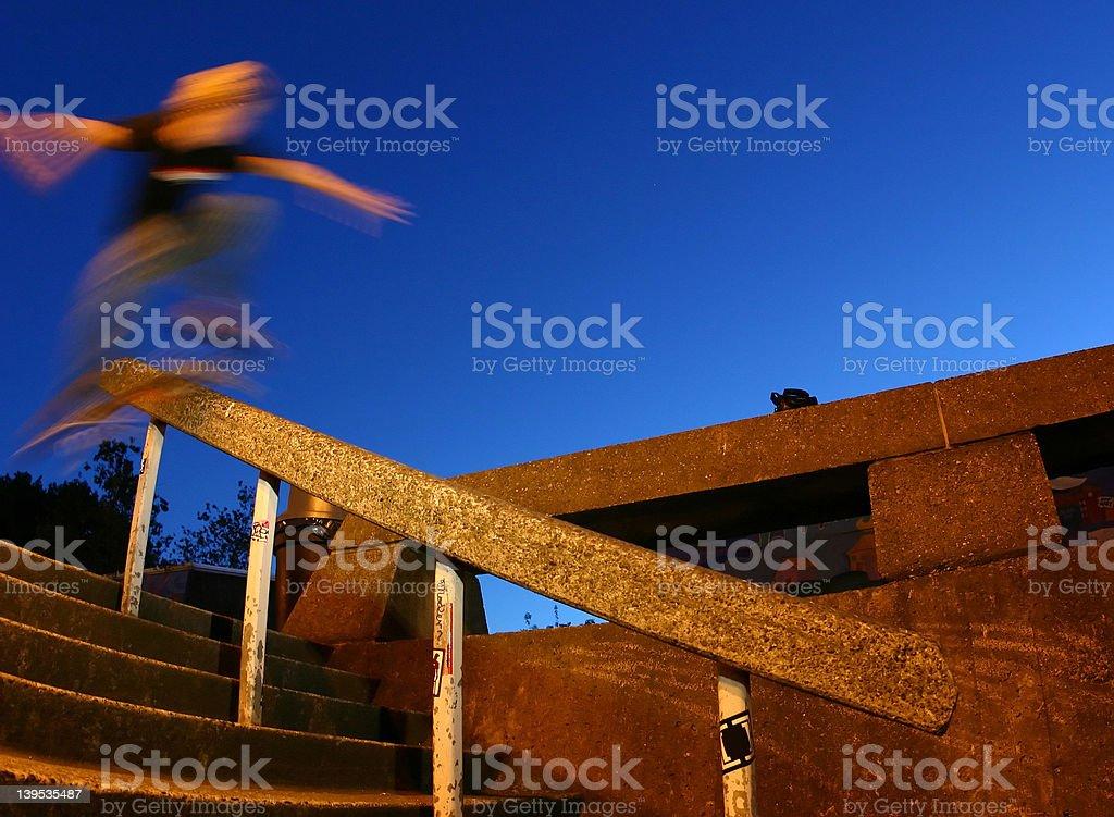 skater in motion stock photo