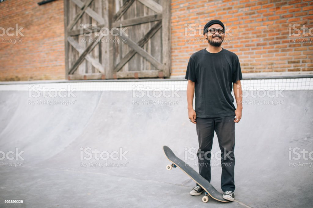 Skater in skate park - Royalty-free Adult Stock Photo