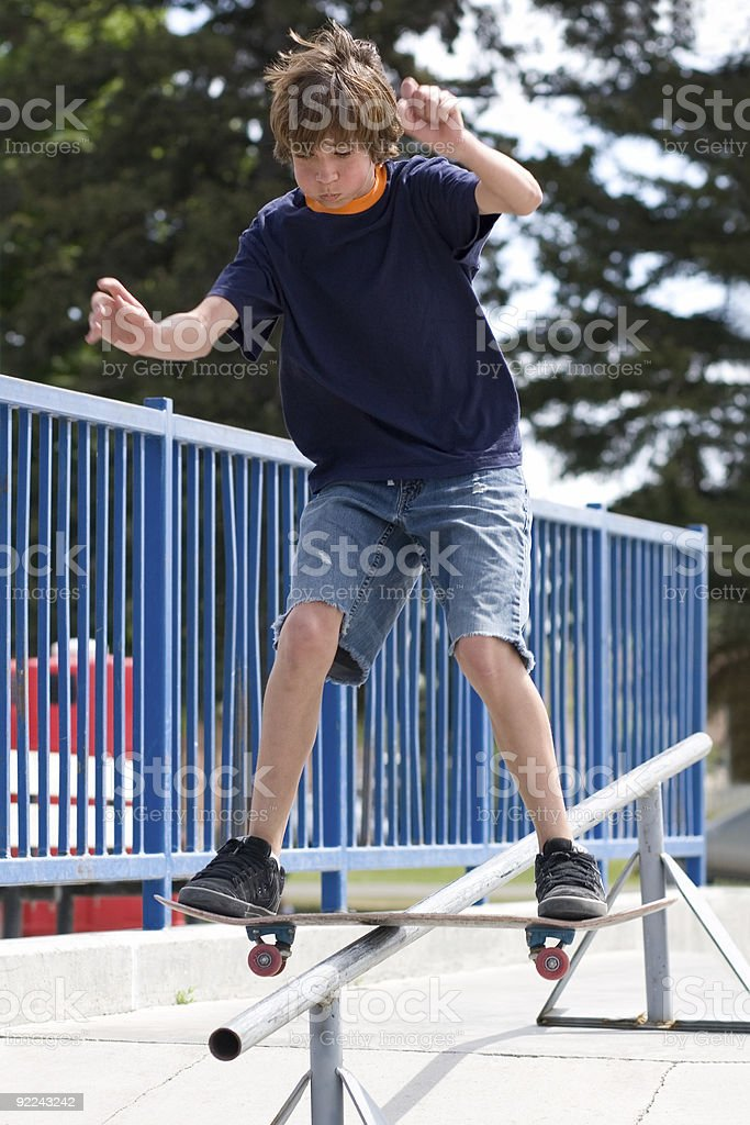 Skater Kid stock photo