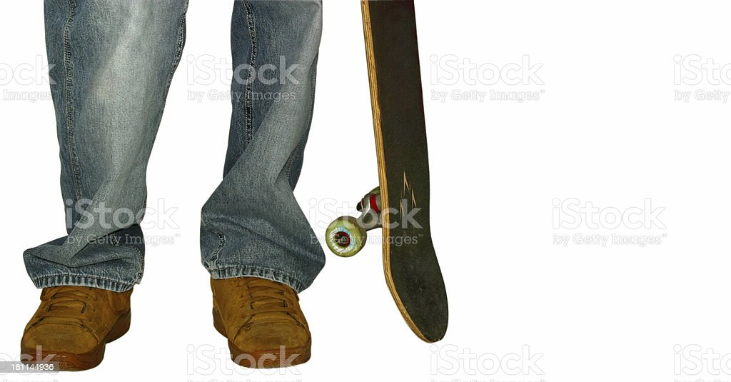 Skater model (clipping path) royalty-free stock photo