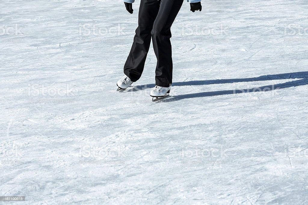 Skater on ice stock photo