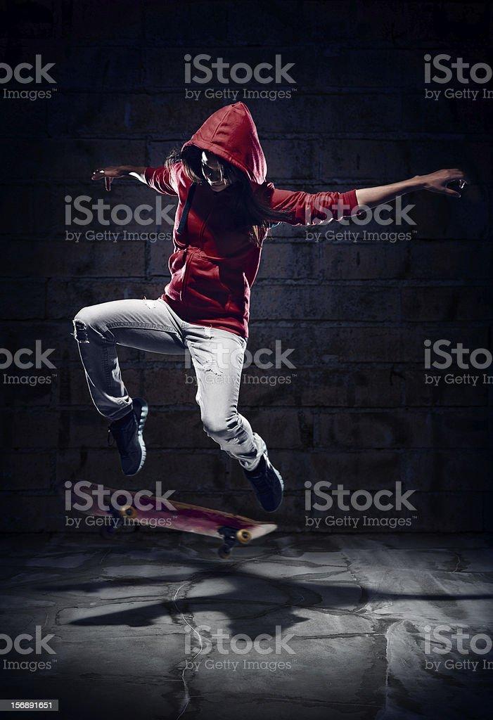 skater trick stock photo
