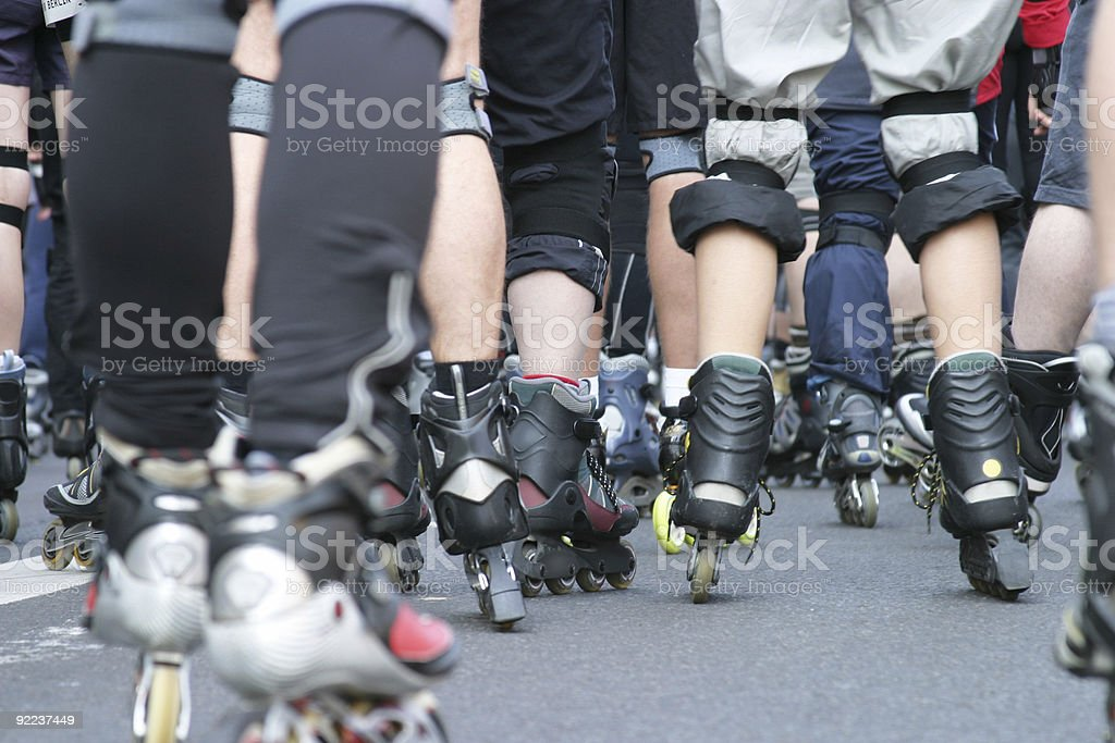 Skaters' Legs royalty-free stock photo