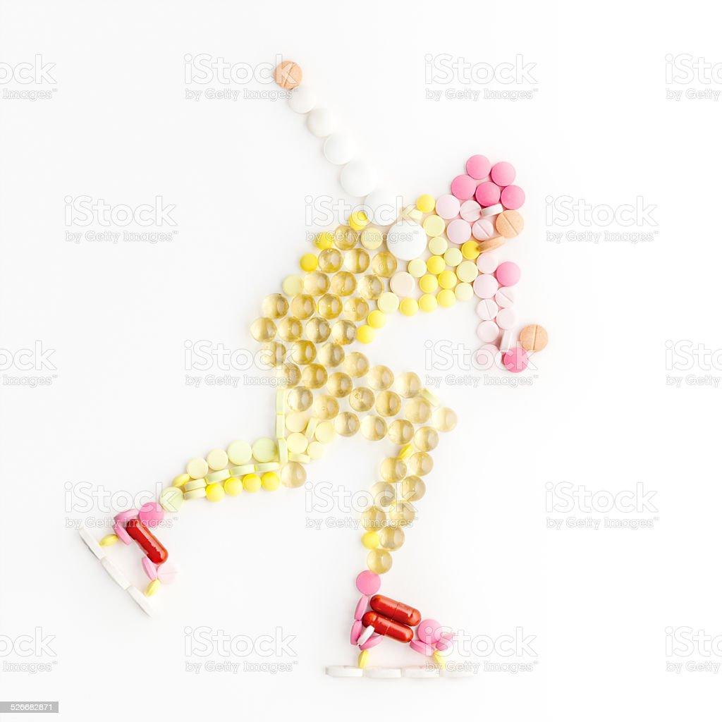 Skating and drugs. stock photo