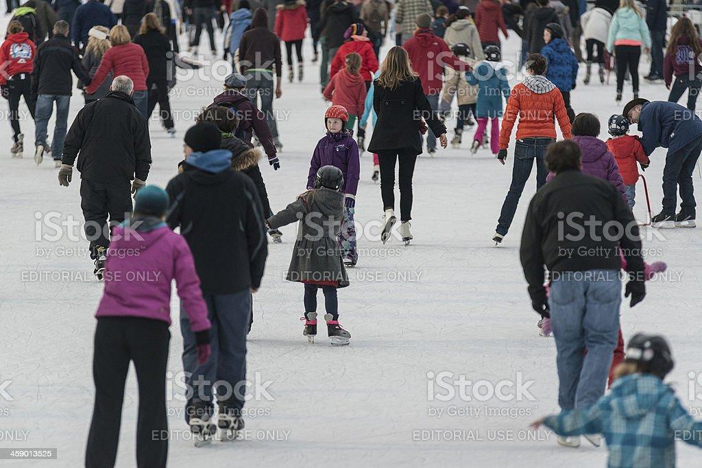 Skating at the Oval royalty-free stock photo