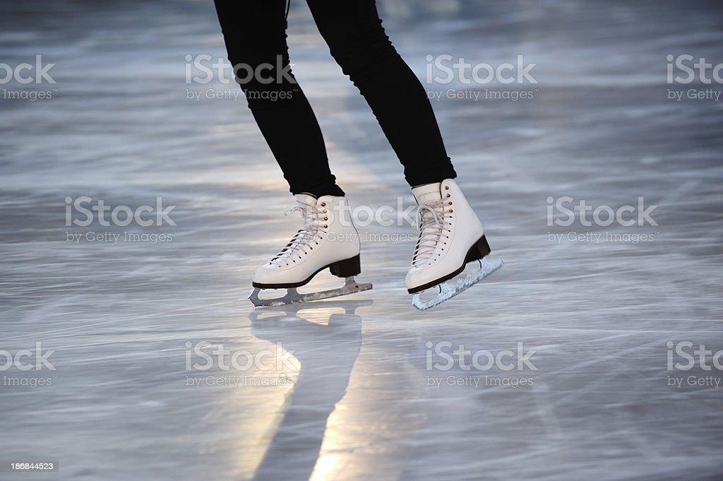 Skating girl, low light royalty-free stock photo
