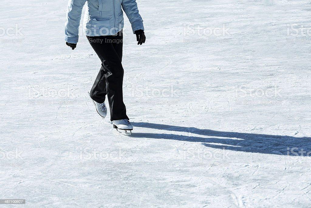 Skating girl stock photo