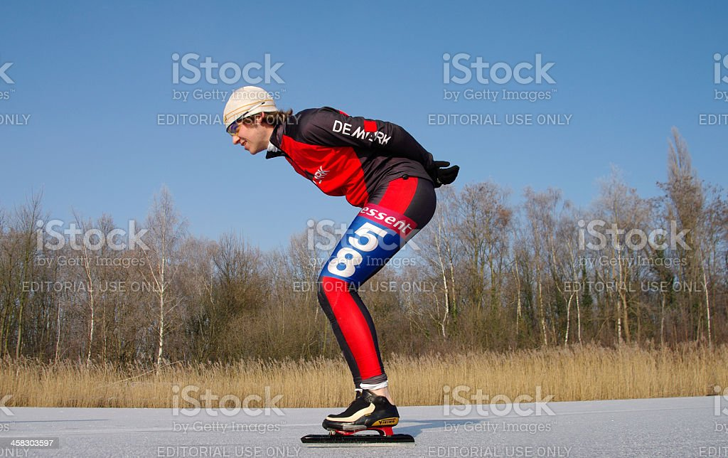 Skating in Holland royalty-free stock photo