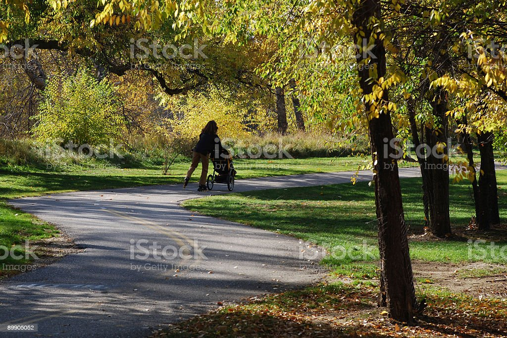 Skating in the park royalty-free stock photo