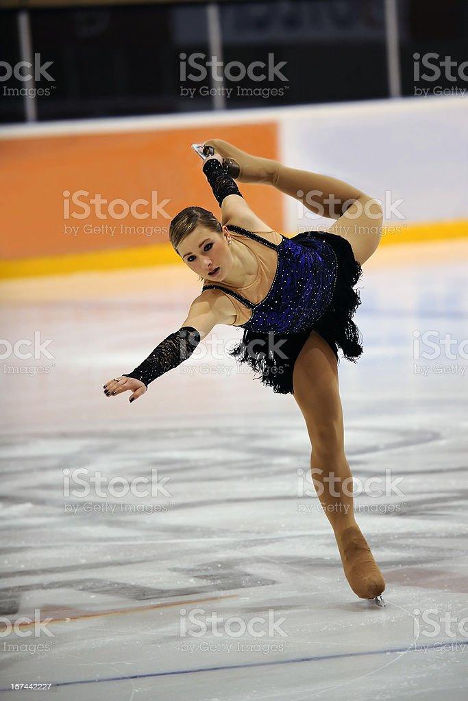 Skating performance stock photo