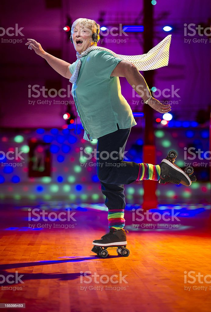skating senior royalty-free stock photo
