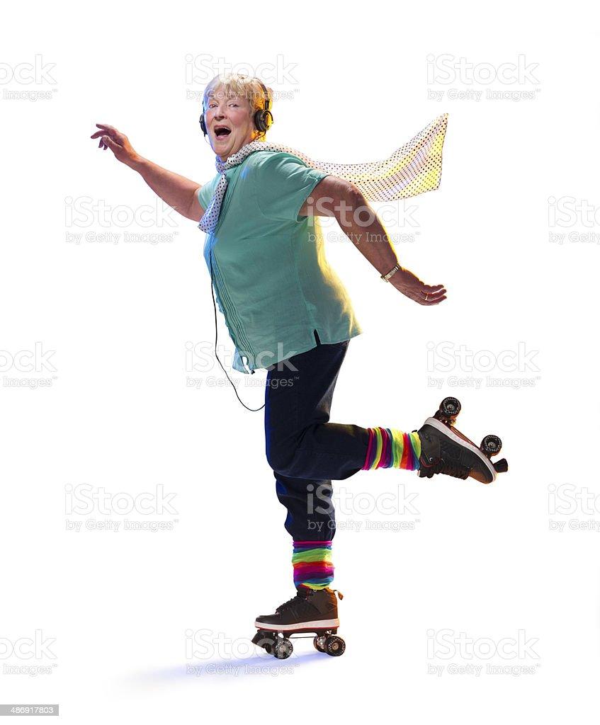 skating senior stock photo