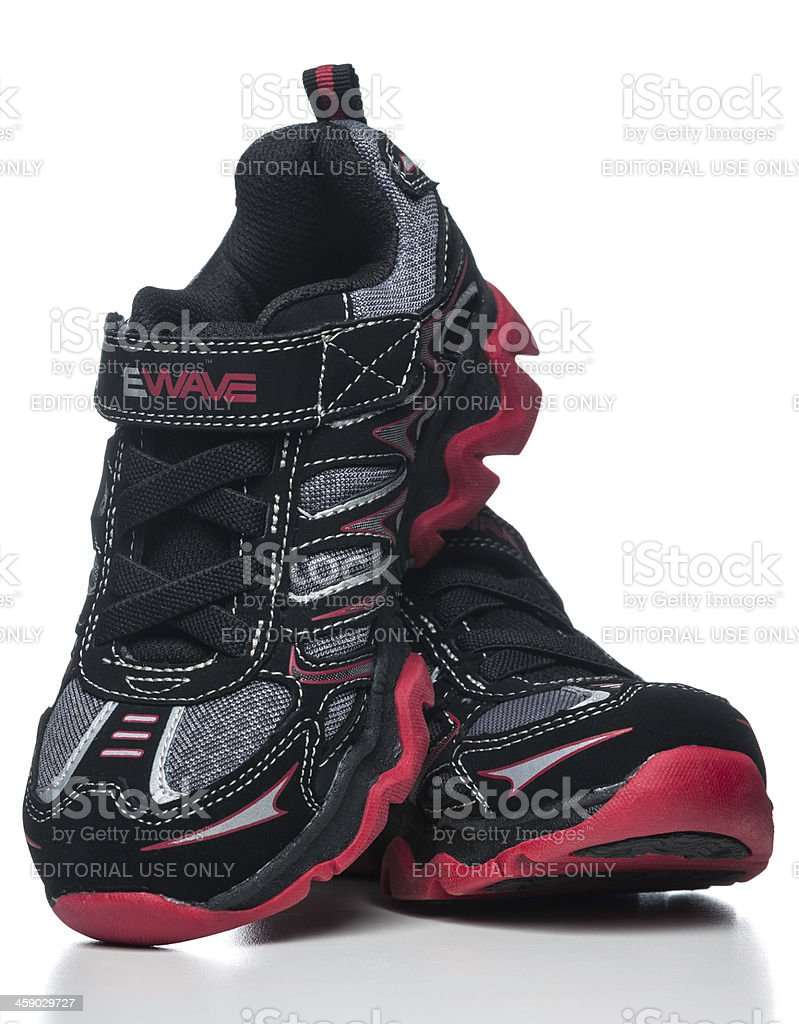 baac84f75280 Skechers Sneakers Kid Shoes Stock Photo   More Pictures of Black ...