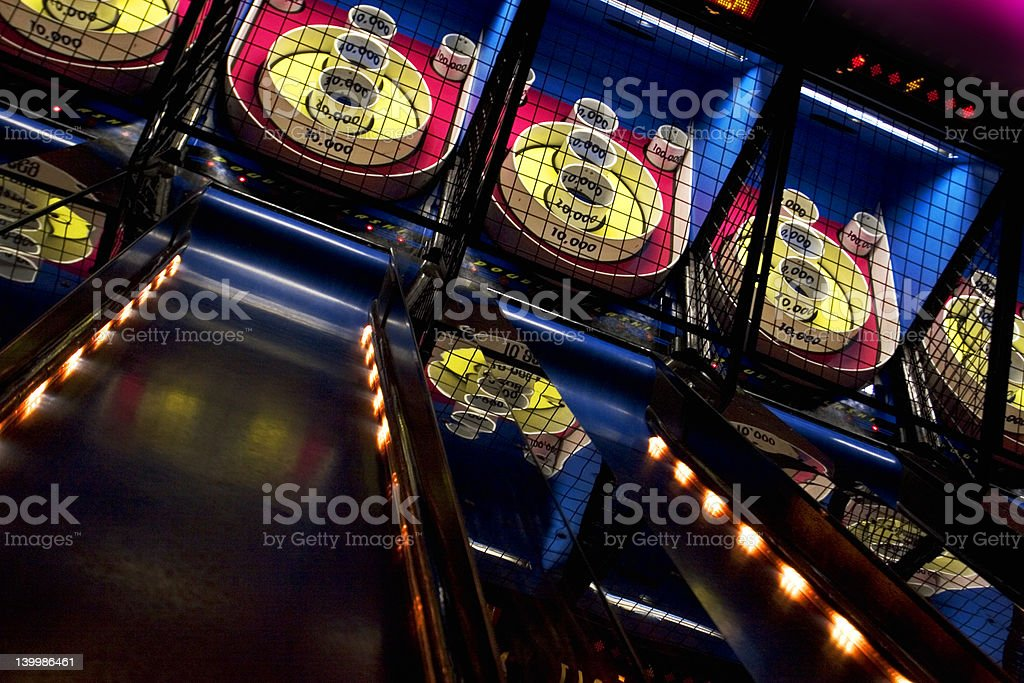 Skee ball stock photo