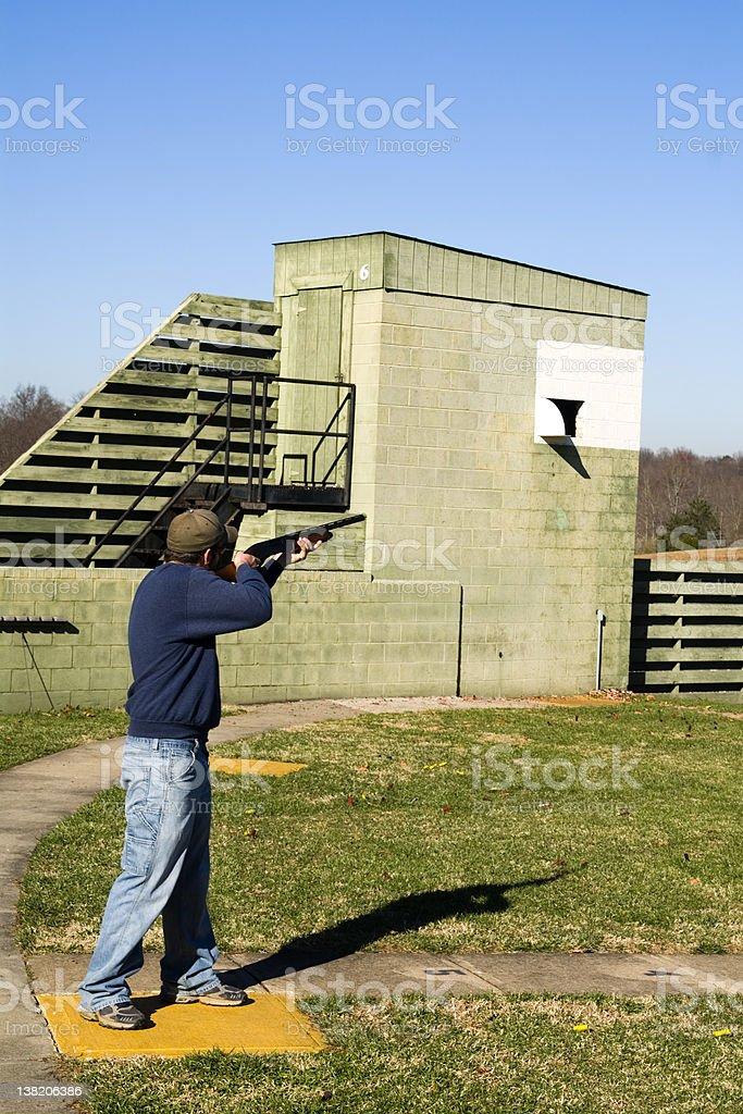 Skeet Shooter III royalty-free stock photo