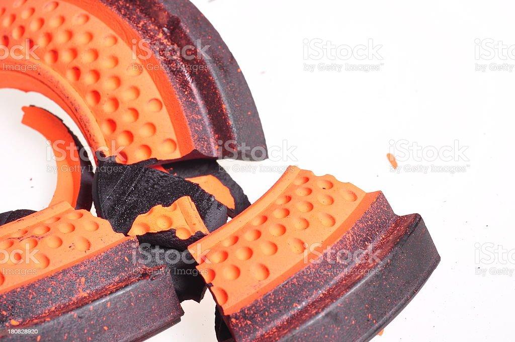 Skeet Shooting clay disk stock photo