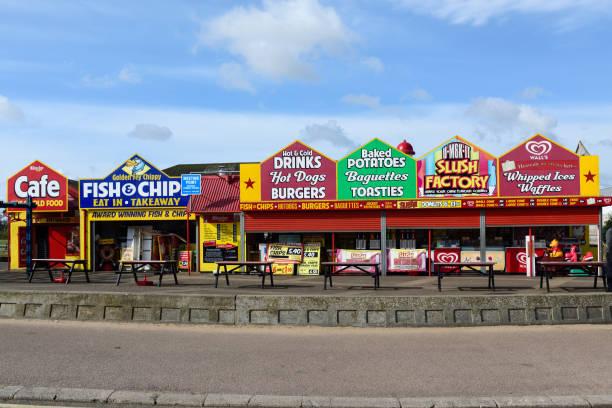 Skegness Ostküstenstadt an einem Feiertag. – Foto