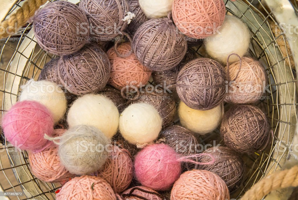 skein for christmas ornament stock photo