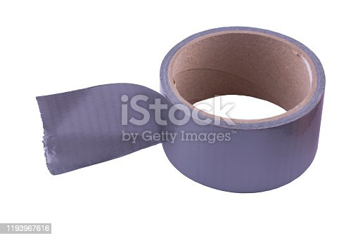 istock A skein of gray tape on a white background.. 1193967616