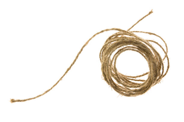 skein of jute twine on the white background - sisal stock pictures, royalty-free photos & images