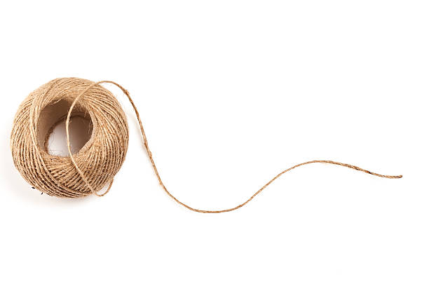 skein of jute twine - string stock photos and pictures