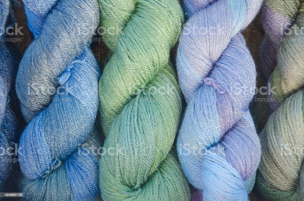 Skeins of Yard on Display stock photo