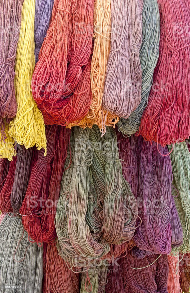 Skeins stock photo