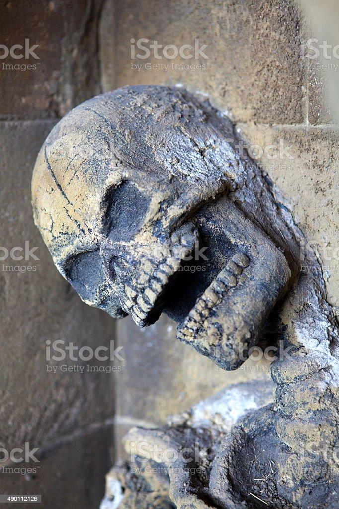 Skeleton at Alnwick Castle stock photo