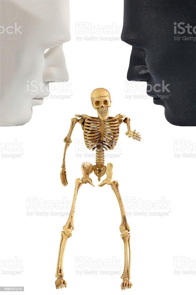 Skeleton bone standing action, human behavior foto royalty-free