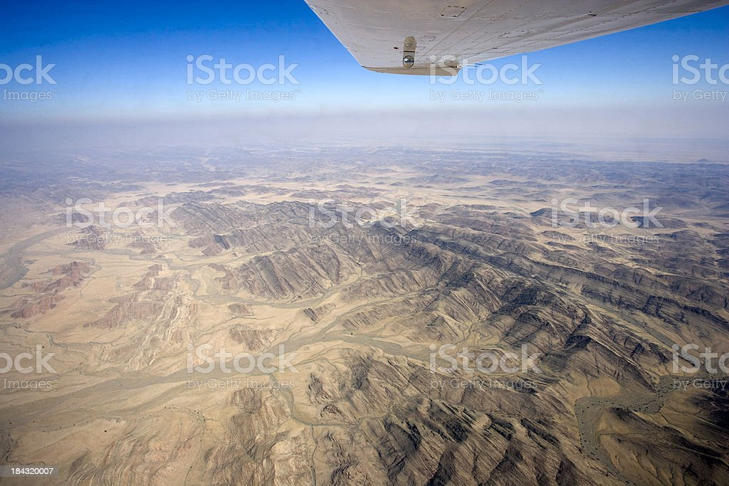 Skeleton Coast from the Air stock photo