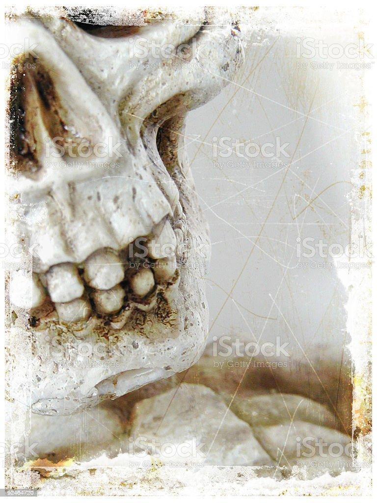 skeleton degraded royalty-free stock photo
