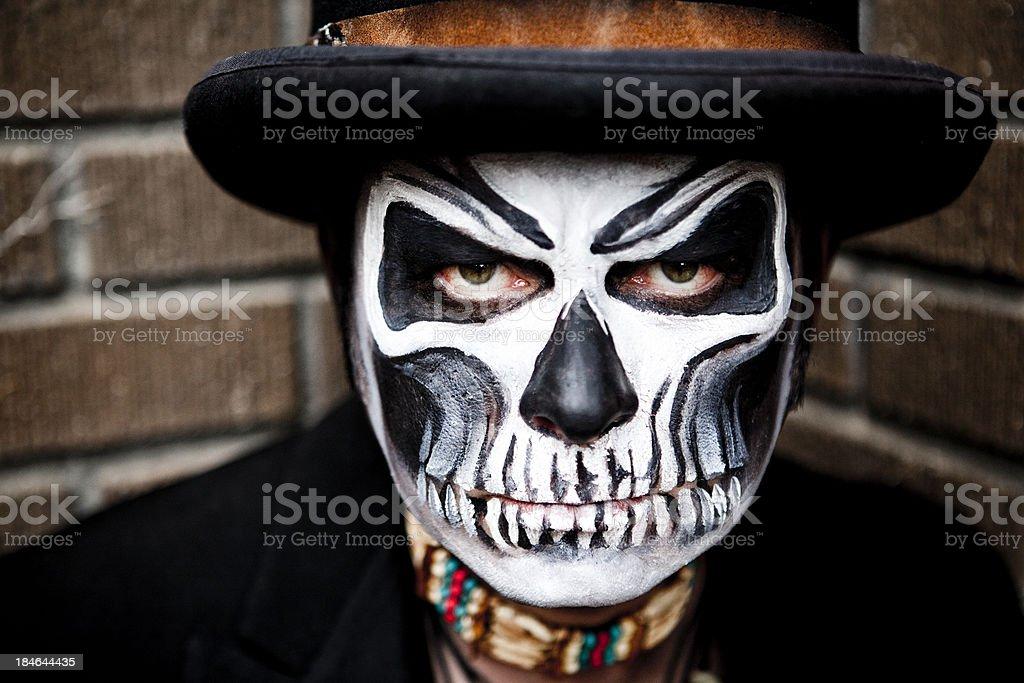 Skeleton Face Paint royalty-free stock photo