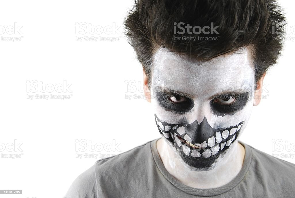 Skeleton guy (Carnival face painting) royalty-free stock photo