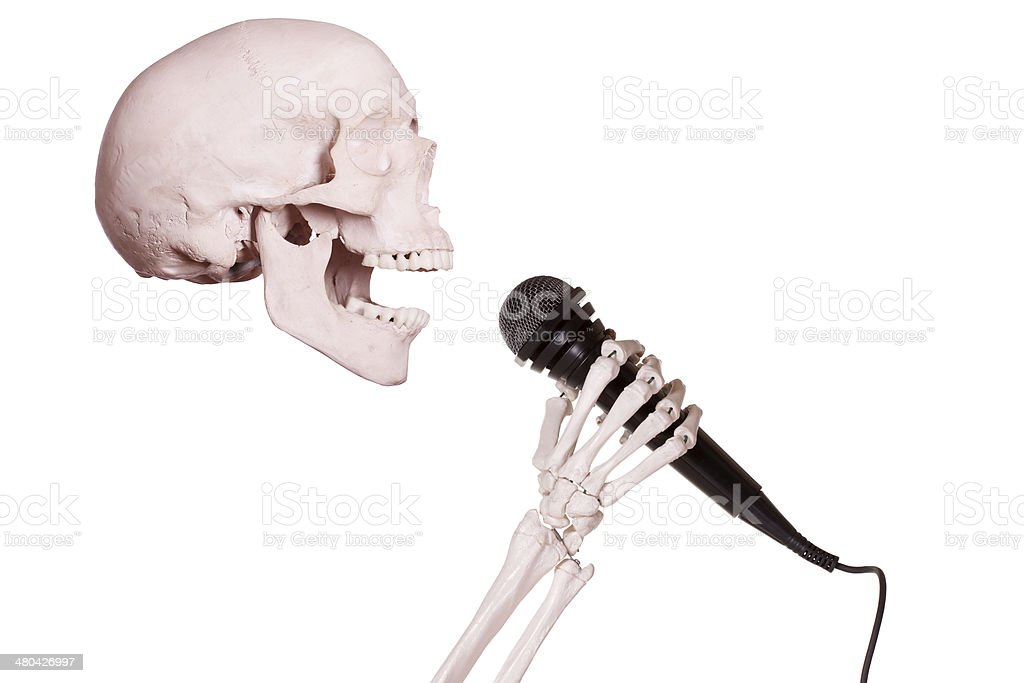 Skeleton Hand Holding Microphone Stock Photo & More Pictures of ...