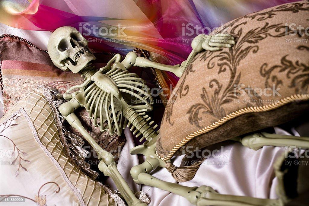 Skeleton in comfort royalty-free stock photo