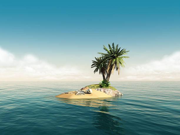 skelett island - die toteninsel stock-fotos und bilder