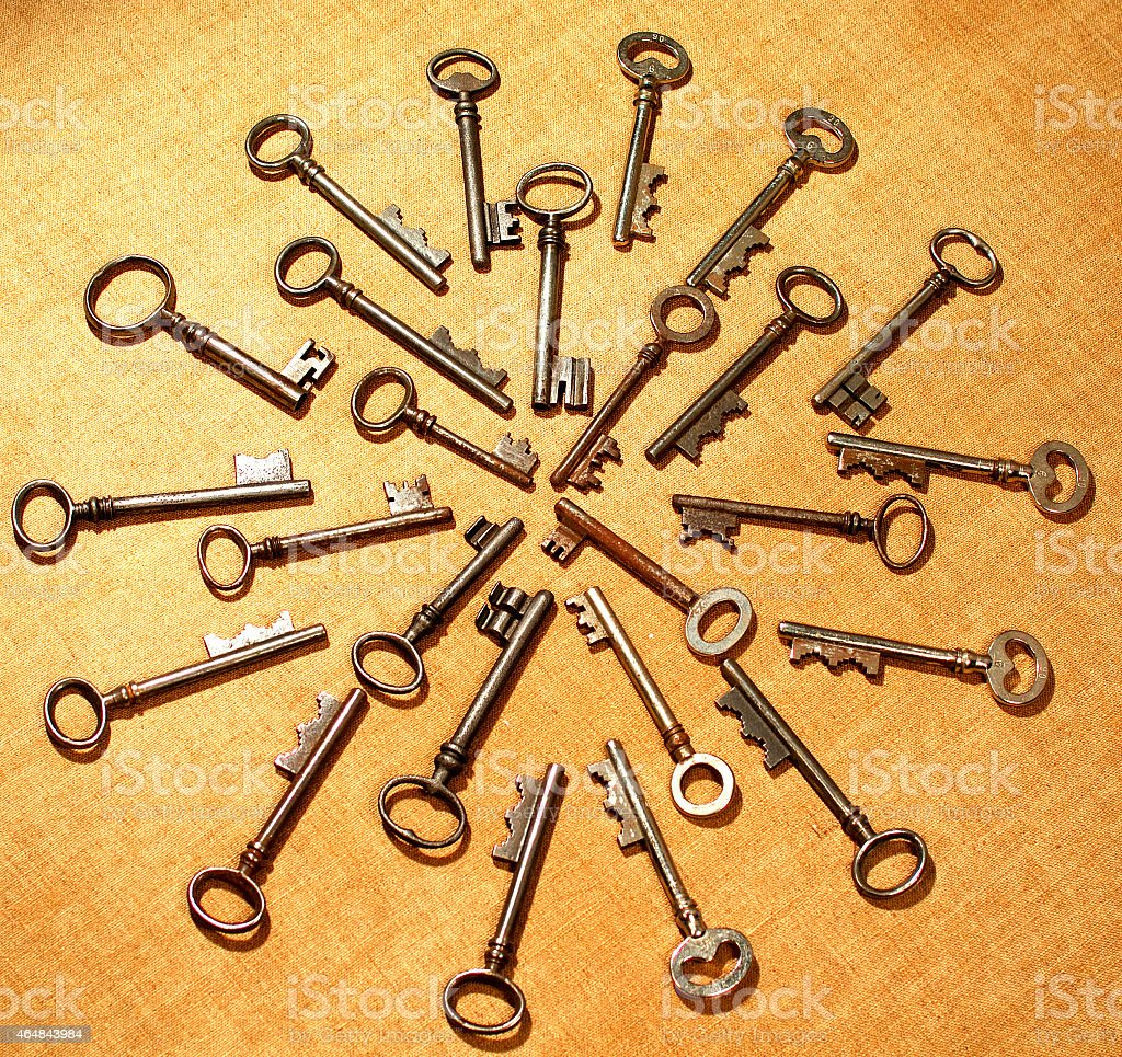 skeleton Key Mandala stock photo