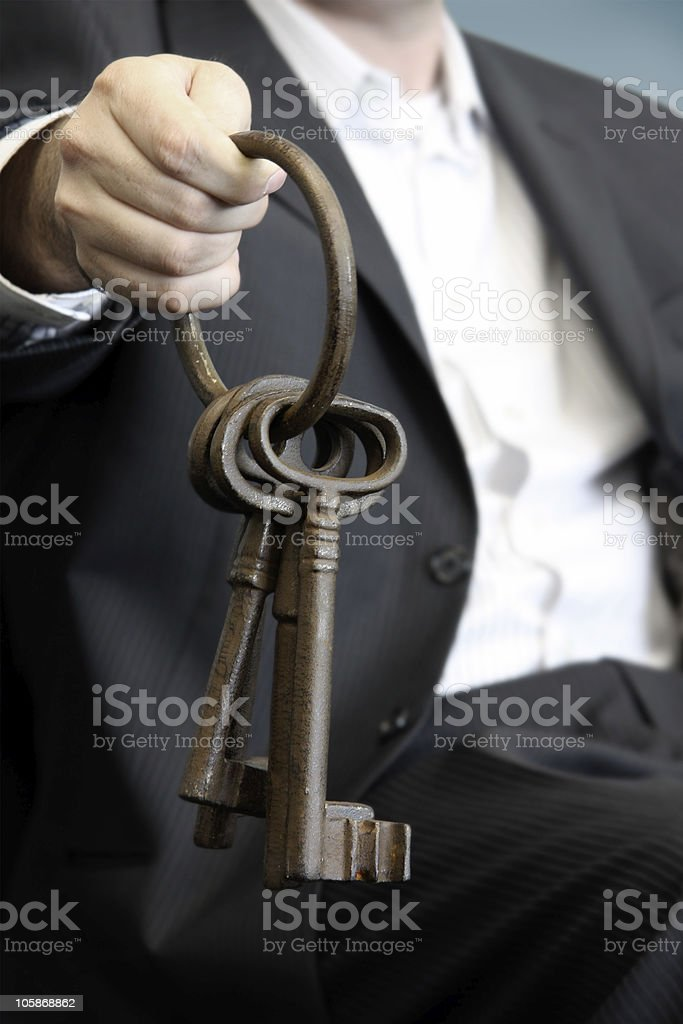 Skeleton keys royalty-free stock photo