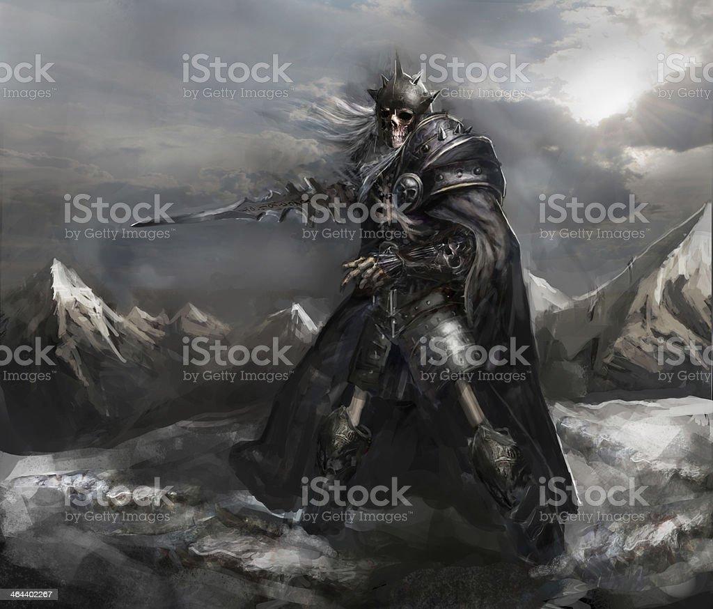 skeleton knight stock photo