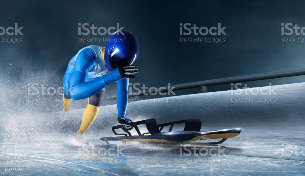 skeleton sport stock photo