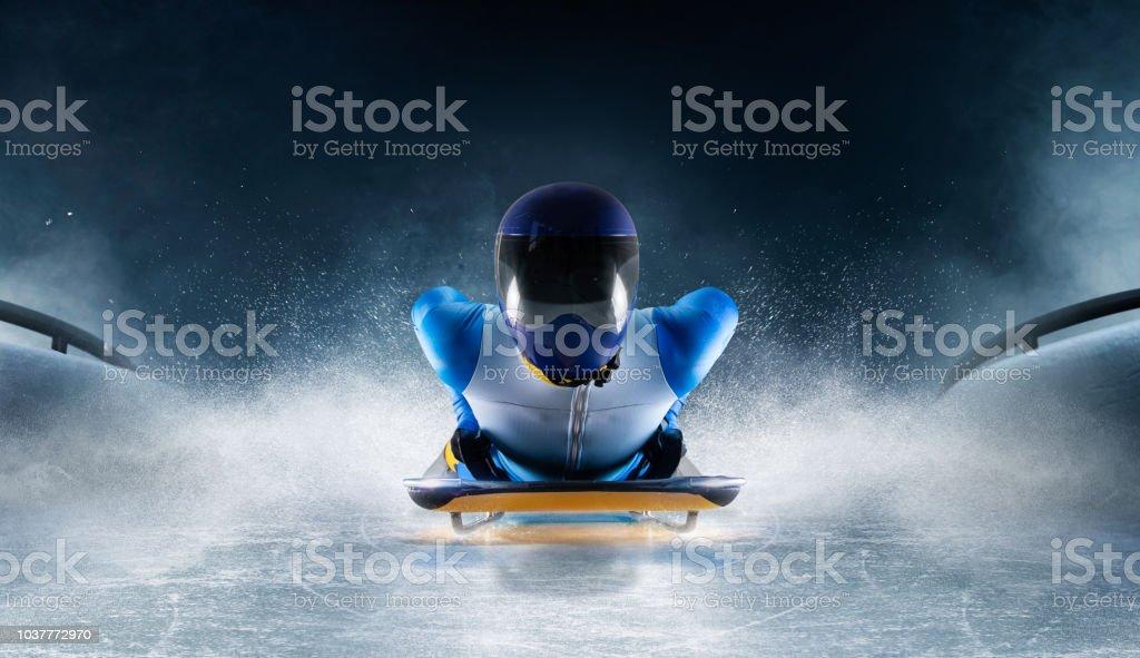 skeleton sport stock photo